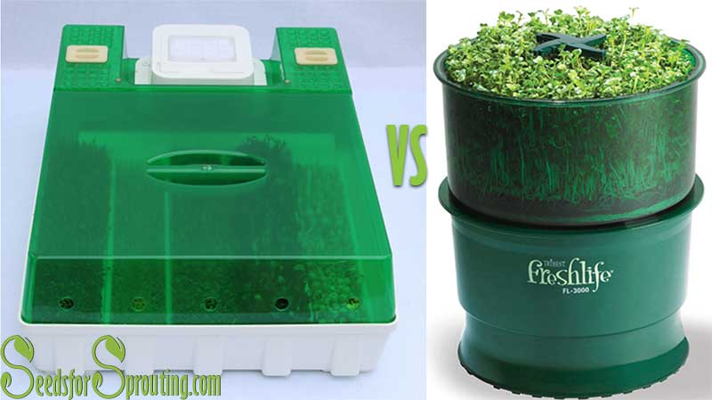 The Easygreen Sprouter vs. The Freshlife Sprouter